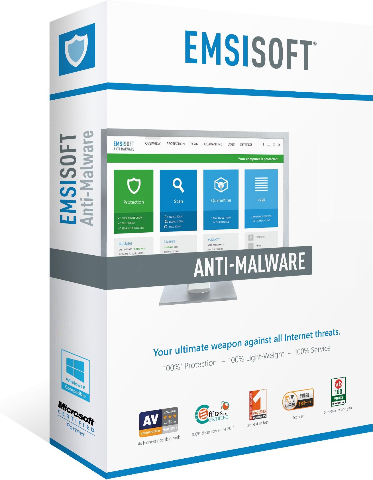 Emsisoft Aktionspreis für Jahreslizenz